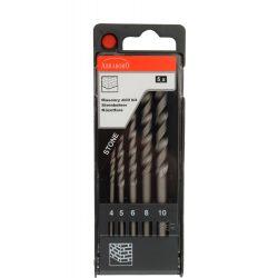 Kőzetfúró készlet (tégla, falazat) 5 részes készlet, műanyag dobozban 4-10mm-ig