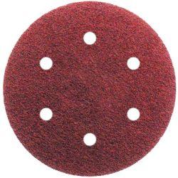 Tépőzáras csiszolópapír 6 lyukú 150mm - 40-240-es szemcseméretig