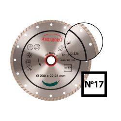 Turbo gyémánttárcsa No.17 - 115, 125, 230 méretekben