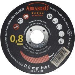 Extra vékony (0,8mm) INOX fémvágó korong - 125 x 0.8 x 22 mm