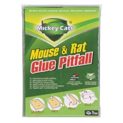 Mickey Cats board, 19x13 cm, glue for mice and rats, Poison-Free