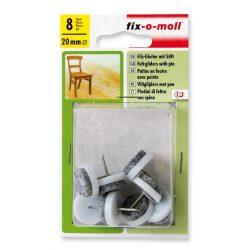 Bútorcsúsztató filc - szegezhető 8 db/cs (fehér)  - 20-28mm-ig