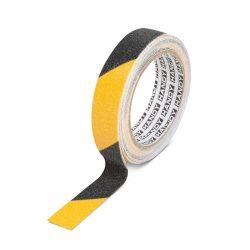 Ragasztószalag - csúszásmentes - 5 m x 25 mm - sárga / fekete