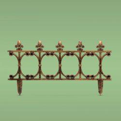 Virágágyás szegély / kerítés - 63 x 33,5 cm