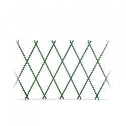 Virágágyás szegély / kerítés - kihúzható - 150 x 50 cm - zöld