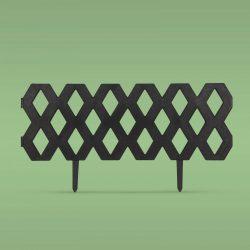 Virágágyás szegély / kerítés - 60 x 22 cm - fekete