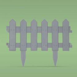 Virágágyás szegély / kerítés - 40,5 x 29,5 cm - szürke