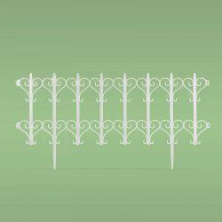 Virágágyás szegély / kerítés - 61 x 30 cm - fehér