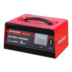 Worcraft BC-217  töltő, 12V / 230V, 5A, akkumulátorra