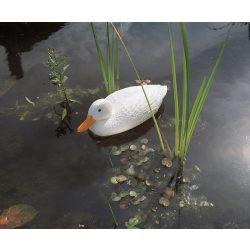 Fehér kacsa állatfigura - 38,5 cm