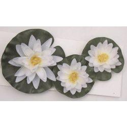 Tavirózsa selyemvirág szett: 3 db - 10/8/8 cm