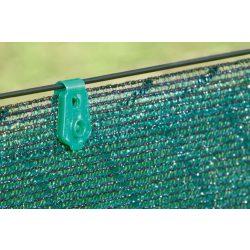 Rögzítőkapocs árnyékoló hálókhoz - UV álló - 20db/csomag, zöld