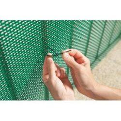 UV álló gyorskötöző árnyékoló hálókhoz 50db/csomag, zöld - 14cm