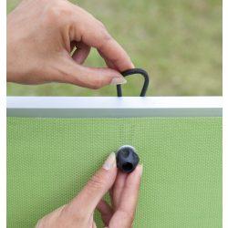 Okos gumikötöző árnyékoló hálókhoz - 20db/csomag, fekete