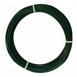 Műanyag bevonatos feszítődrót - zöld, 1,1/1,6mm x 100m