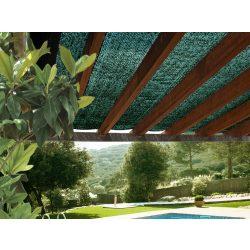 Árnyékoló háló pergolákra, kerítésekre - 3m x 4m, zöld - 65 g/m²