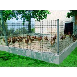 Könnyített műanyag kerítés, szemméret: 24 x 27mm, ezüst 1 x 10m