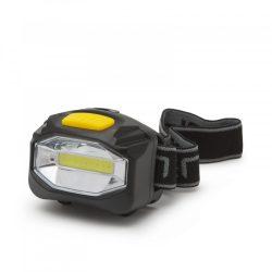 Nagy fényerejű COB LED fejlámpa - elemes - 12 db / display
