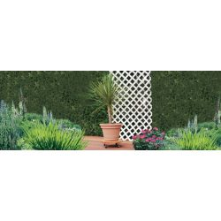Lakkozott keményfa gurulós virágalátét, kerek - világosbarna, 30cm