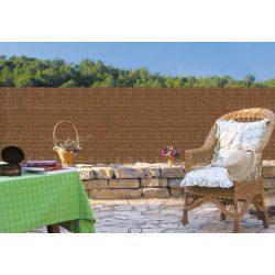 Sűrűn szőtt pálmaháncs árnyékoló háló - 1 x 3 m, barna - 100%