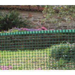 Műanyag kerti rács, szemméret: 5 x 5mm - zöld, 0,5 x 5m