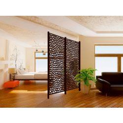 Térelválasztó panel, mozaik mintás - barna, 100 x 200cm