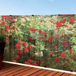 Virágmintás árnyékoló (prémium) - 1 x 3 m - 85%