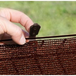 Rögzítőkapocs árnyékoló hálókhoz - UV álló - 20db/csomag, barna