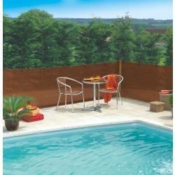 Szélfogó, UV álló magas minőségű árnyékoló - 2m x 10m, barna - 80%