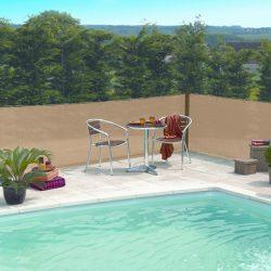 Szélfogó, UV álló magas minőségű árnyékoló - 2m x 10m, homok - 80%