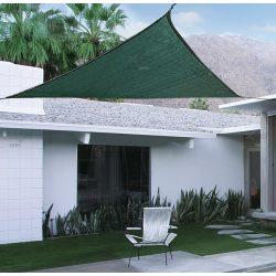 Extra erős, szőtt napvitorla (háromszög alakú), 3m x 3m x 3m - zöld