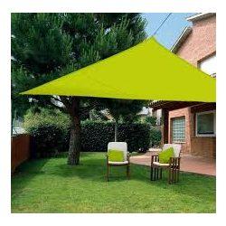 Extra erős, szőtt napvitorla (háromszög alakú), 3,6m x 3,6m x 3,6m - zöld