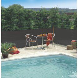Szélfogó, UV álló magas minőségű árnyékoló - 1,5 x 10 m, antracit - 80%