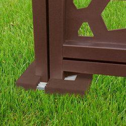 Oszloptalp fedő térelválasztó panelhez - barna, 12,5 x 12,5 x 2cm