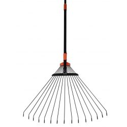 R114 rake, 15 lamellas, leaf, wire, adjustable