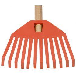 Rake GECO 23352, 195x14x780, children, plastic, wooden handle, orange