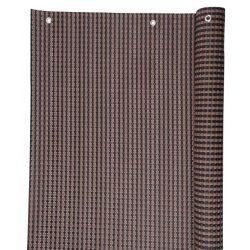 UV álló polyrattan árnyékoló - 0,9 x 3 m - 800 g/m2 - barna-fekete