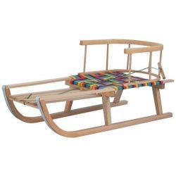 Sane Sierra, 87x34x38cm, wooden sledge, with backrest, with strap