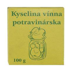 Tartaric acid, food, 100 g