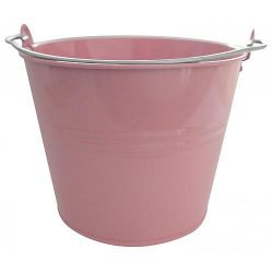 Bucket GECO 20108, 7 liters, pink, metal