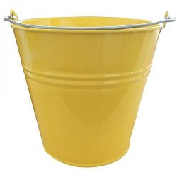 Bucket GECO 20108, 7 lit., yellow, metal