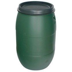 Baron Pannon EN11604 hordó, 220 lit, 471 mm, zöld, HDPE
