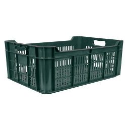 Crate M20, 48 liters, max. 20 kg, 600x400x215 cm, perforated, PE
