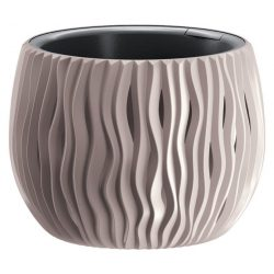 Flowerpot SANDY Bowl 240, 238x161 mm, mocca