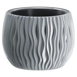 Flowerpot SANDY Bowl 240, 238x161 mm, gray, insert