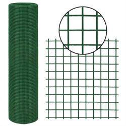 Csirkeháló 10 x 1 m ponthegesztett 12,7 x 12,7 mm d=0,6/0,9 mm PVC bevonatos (10m)