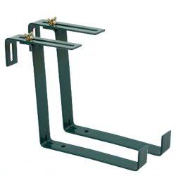 balkonládatartó fém (2 db-os) 14 x 18 x 3 cm zöld