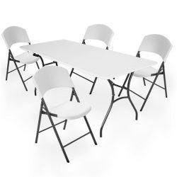 Lifetime szett (asztal + 4 szék) összecsukható családi 183 cm