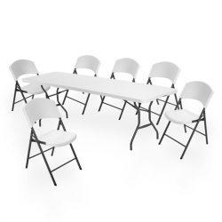 Lifetime szett (asztal + 6 szék) összecsukható 244 cm