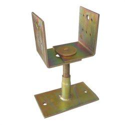 oszloptalp lecsavarozható állítható + szintezős 80-120 mm sárga horgany
